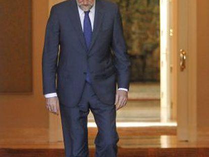 Mariano Rajoy, en La Moncloa.
