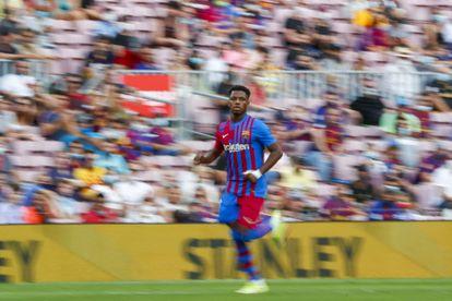 Ansu Fati durante el partido contra el Levante.
