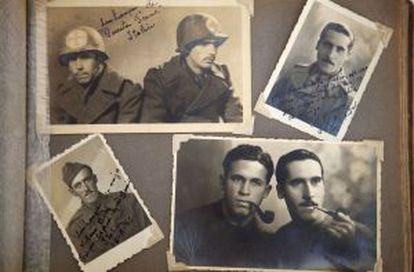 Reproducción del álbum del excombatiente Julio del Valle.