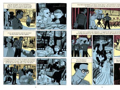 Dos páginas del cómic 'La parada de los freaks' (Aloha! editorial), de Fabrice Colin y Joëlle Jolivet.