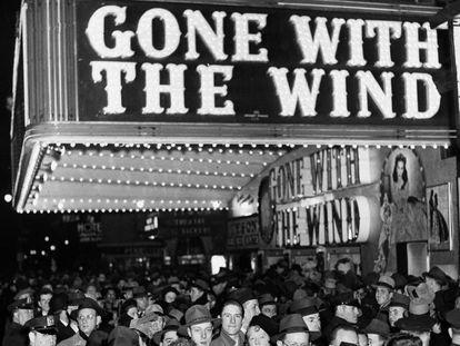 """El estreno de """"Lo que el viento se llevó"""" en Broadway (Nueva York), 1939."""