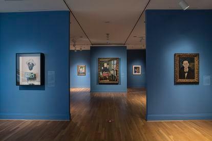 Una sala de la Phillips Collection, con la exposición conmemorativa del centenario.