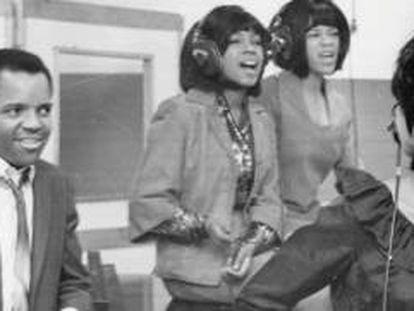 Berry Gordy y las Supremes.