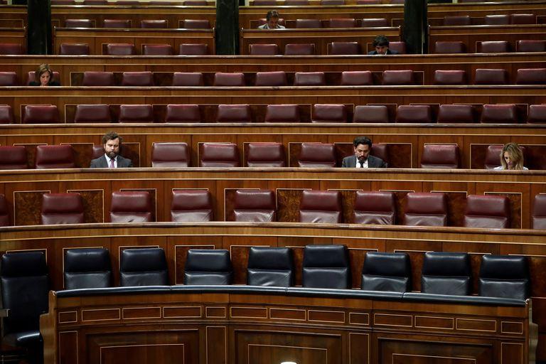 El Congreso casi vacío durante el pleno de este miércoles.