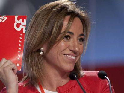 Carmen ChacÓn en el 38 congreso federal del PSOE. JULIÁN ROJAS (EL PAÍS) EPV/ATLAS
