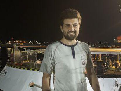 Ali Maray, 25 años y estudiante de Ingeniería, es uno de los rescatados del buque de la ONG española