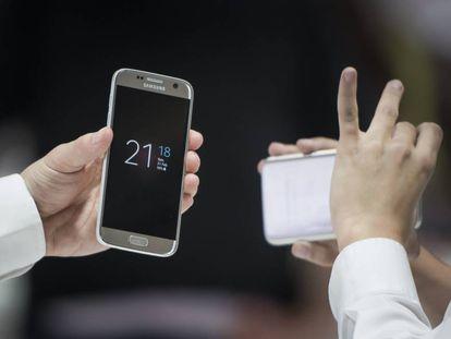 Presentación del Samsung Galaxy S7 en el MWC de Barcelona.