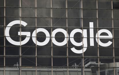 Google logo on a building in the financial district of La Defense in Courbevoie, next to Paris (France), photographed last September.