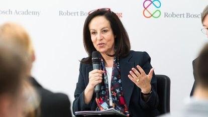 Anna Diamantopoulou, candidata a dirigir la OCDE, en una foto cedida por su equipo.
