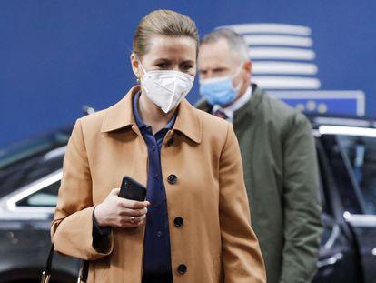 La primera ministra danesa, Mette Frederiksen, en una cumbre de la UE en Bruselas, el pasado 24 de mayo.