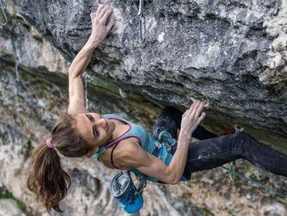 Laura Rogora, en una de sus escaladas.