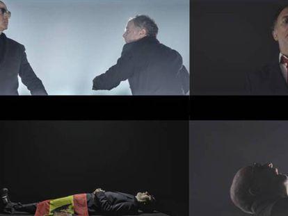 Cuatro momentos de la relación entre Franco (encarnado por Alberto San Juan) y Juan Carlos I (Luis Bermenjo), en 'El rey'. En vídeo, teaser de 'El rey'.