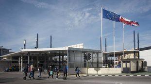 La frontera de Gibraltar, el último día antes del Brexit.