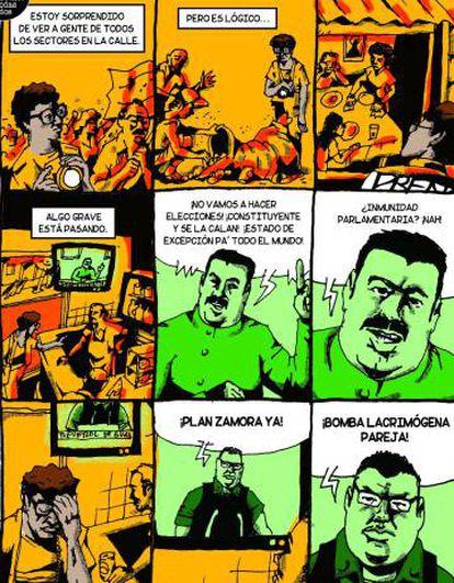 Cómics para contar lo que pasa en Venezuela.