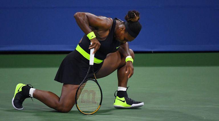 Serena Williams, durante el partido contra Sakkari en Nueva York. / ROBERT DEUTSCH (REUTERS)