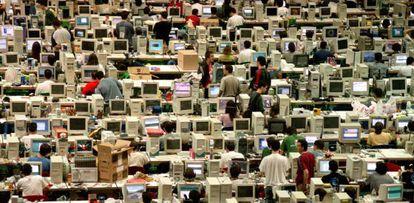 Reunión de aficionados a la informática celebrada en Vitoria en 2003,  semillero de futuros expertos en seguridad.