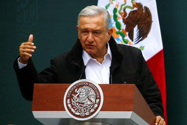 López Obrador, durante un acto en Palacio Nacional.