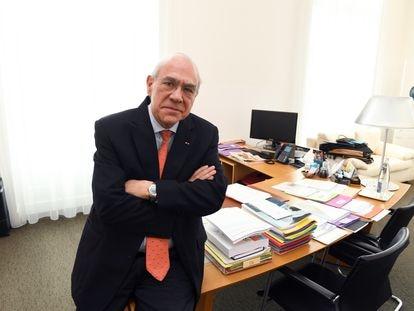 Ángel Gurría, en su despacho en París, dos días antes de dejar su cargo.