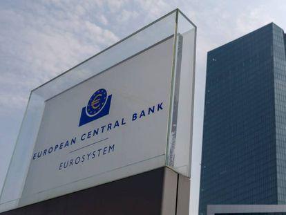 Vista de la fachada del Banco Central Europeo (BCE), el pasado diciembre.