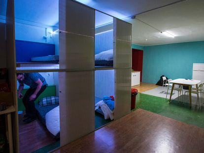 Uno de los pisos colmena de la empresa Haibu en Barcelona.