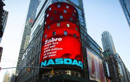 Sede del Nasdaq en Times Square, New York
