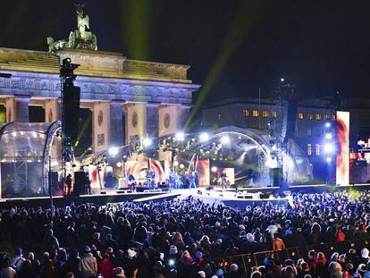 Escenario de la gran fiesta de Nochevieja de Berlín, el pasado 31 de diciembre.