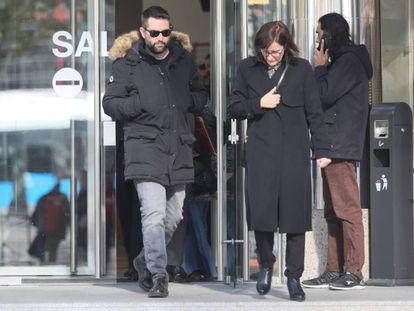 Dani Mateo, a la salida de los juzgados de Plaza de Castilla, este lunes.