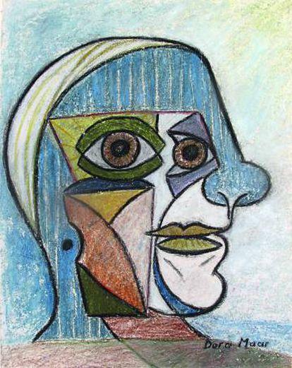 Retrato de Picasso, pintado por Dora Maar en 1936.