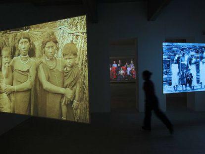 Una de las videografías de la artista Fiona Tan en el Koldo Mitxelena de San Sebastián.