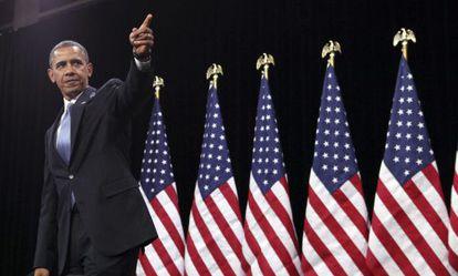 El presidente estadounidense, Barack Obama, en la escuela Del Sol en Las Vegas, Nevada.