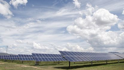Planta solar de la empresa Enel Green Power en San Luis de la Paz, Guanajuato.