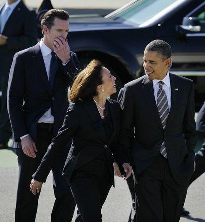 Harris y Obama, en San Francisco, durante una gira de recaudación de fondos en 2012.