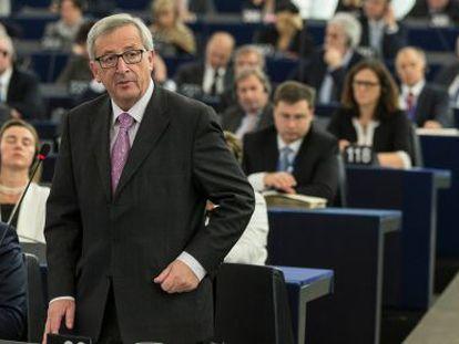 El presidente de la Comisión Europea, Jean-Claude Juncker, durante su última comparecencia de prensa.