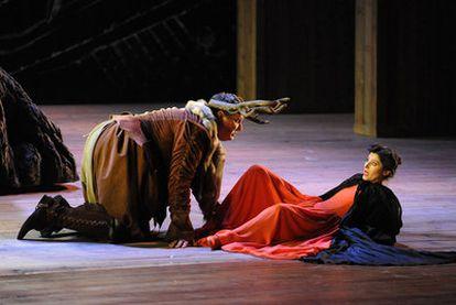 Ambrogio Maestri y Svetla Vassileva, en un momento de <i>Falstaff</i>.