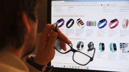 Un usuario visita una tienda online.