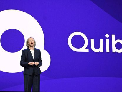 La CEO de Quibi, Meg Whitman, en una conferencia en el CES de Las Vegas el pasado enero.