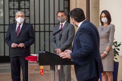 Diputados de Ciudadanos toman posesión de sus nuevos cargos en Murcia.