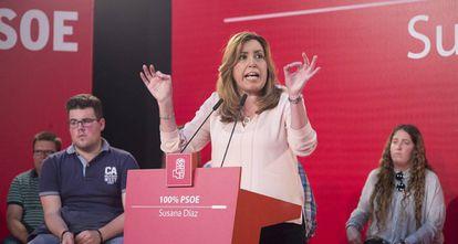La candidata a la Secretaría General del PSOE, Susana Díaz.