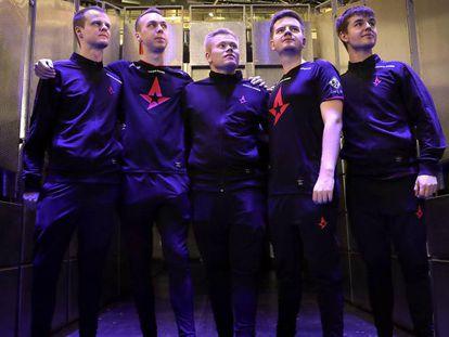 Los jugadores de Astralis, un equipo del deporte electrónico CS:GO