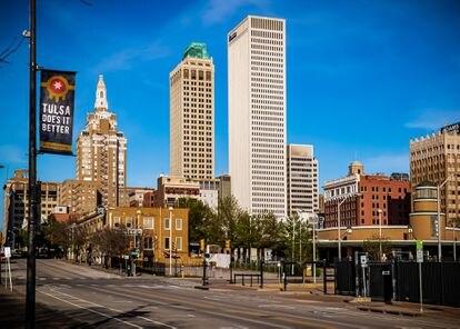Una imagen del centro de Tulsa.
