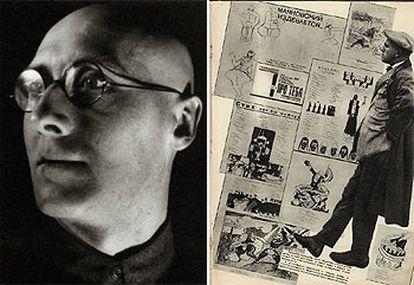 'Retrato de Serguéi Tretyakov' (1927-1928). A la derecha, '4 páginas de Vladímir Mayakovski' (1938).