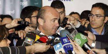 El ministro de Economía, Luis de Guindos. EFE/Archivo