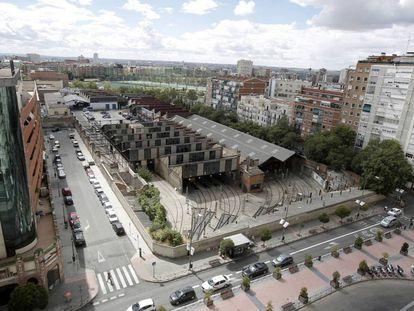 Vista aérea de las cocheras de Metro Madrid, en Cuatro Caminos.