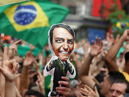 Simpatizantes de Bolsonaro en Sao Paulo.