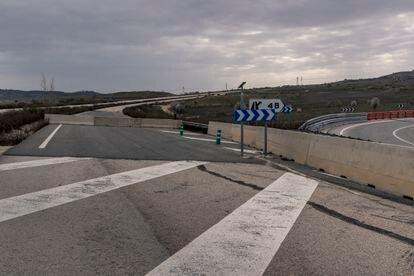 Tramo de la carretera MP-203 en Mejorada del Campo, Madrid.