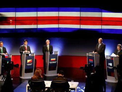 Cinco partidos están en una reñida competencia para sustituir al actual mandatario, Luis Guillermo Solís