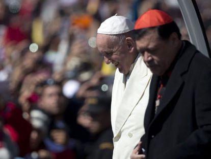 El Papa acompañado de Norberto Rivera.