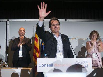 Artur Mas durante la Cosell Nacional de Convergència.