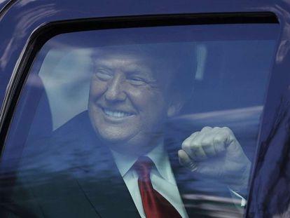 Donald Trump, el pasado 20 de enero antes de volar hacia Florida.