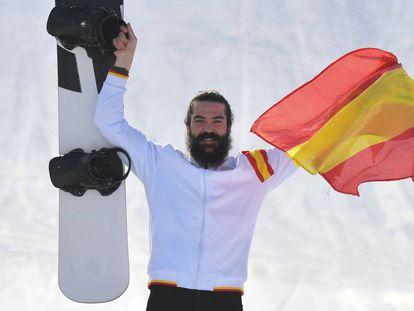 REgino Hernández celebra el bronce.